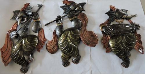 Metal Ganesha Wall Decor Set