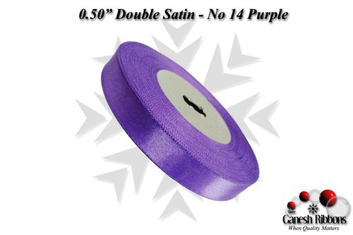 Double Satin Ribbons - Purple
