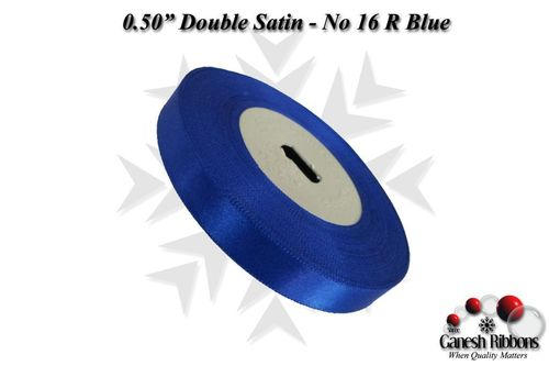 Double Satin Ribbons - Royal Blue