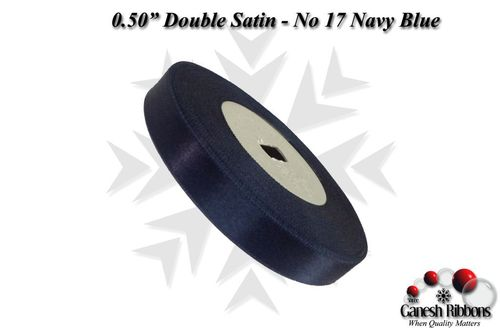 Double Satin Ribbons - Navy Blue