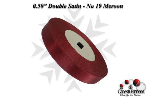Double Satin Ribbons - Meroon