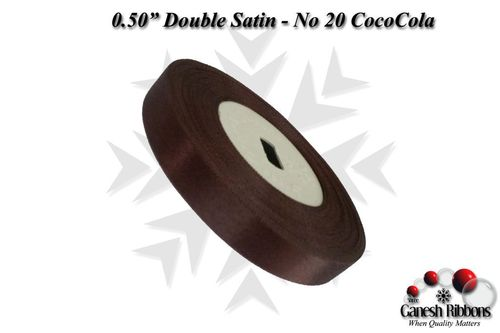 Double Satin Ribbons - CocoCola
