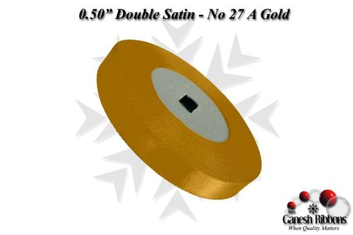 Double Satin Ribbons - A Gold