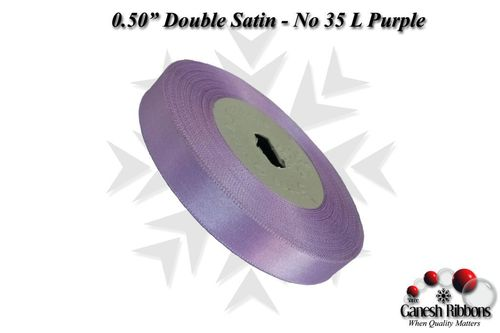 Double Satin Ribbons - L Purple