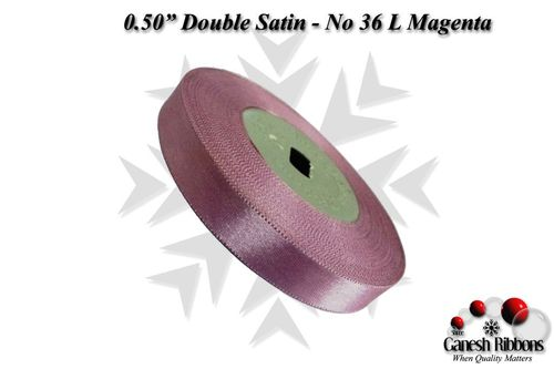Double Satin Ribbons - L Magenta