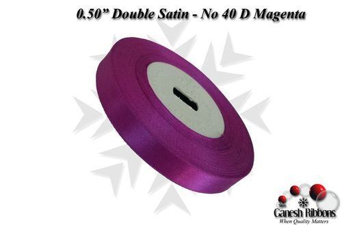 Double Satin Ribbons - Dark Magenta