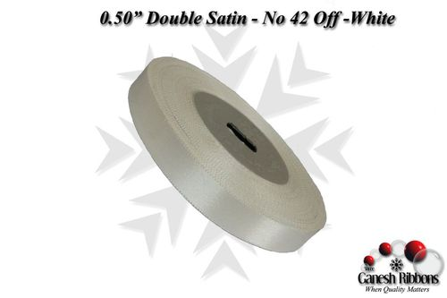 Double Satin Ribbons - Off White
