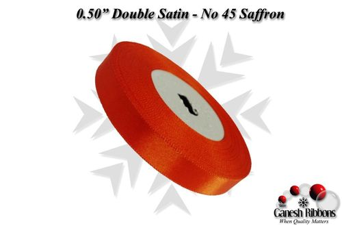 Double Satin Ribbons - Saffron