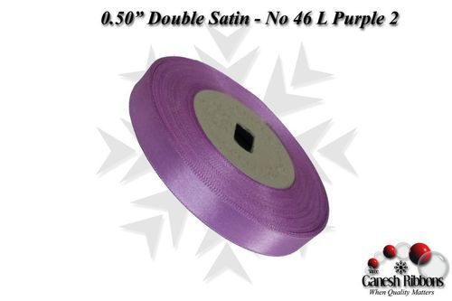 Double Satin Ribbons - L Purple 2