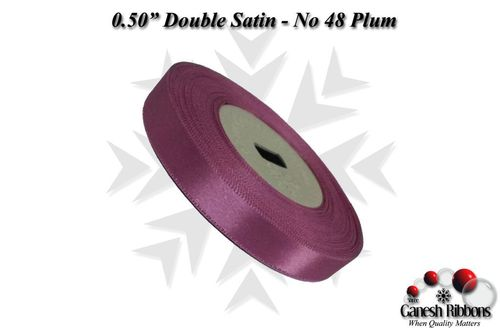Double Satin Ribbons - Plum