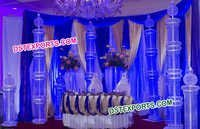 Beautiful Wedding Metal Crystal Pillars