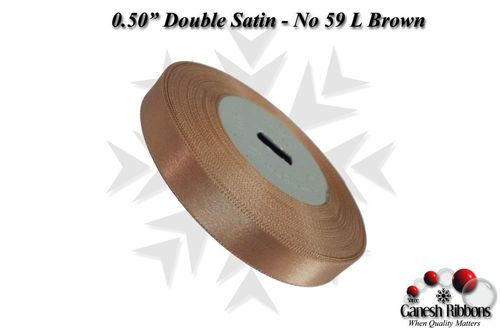 Double Satin Ribbons - L Brown