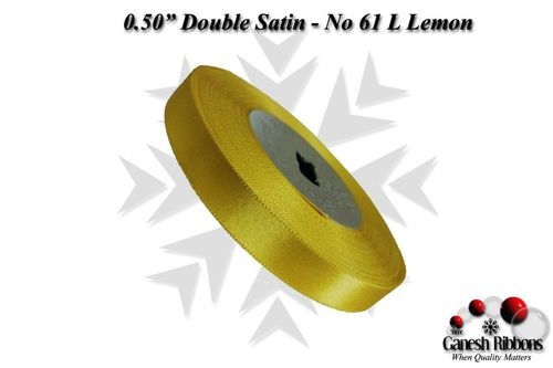 Double Satin Ribbons - L Lemon