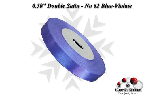 Double Satin Ribbons - Blue-Violate