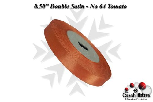 Double Satin Ribbons - Tomato