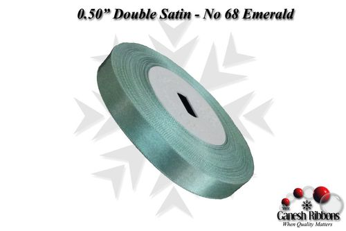 Double Satin Ribbons - Emerald