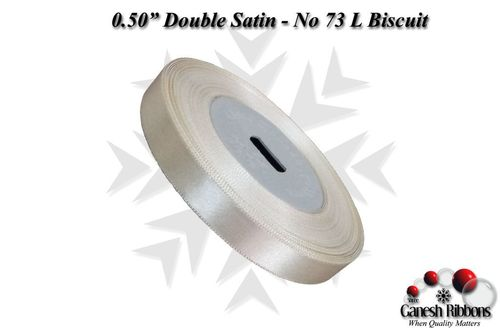 Double Satin Ribbons - L Biscuit
