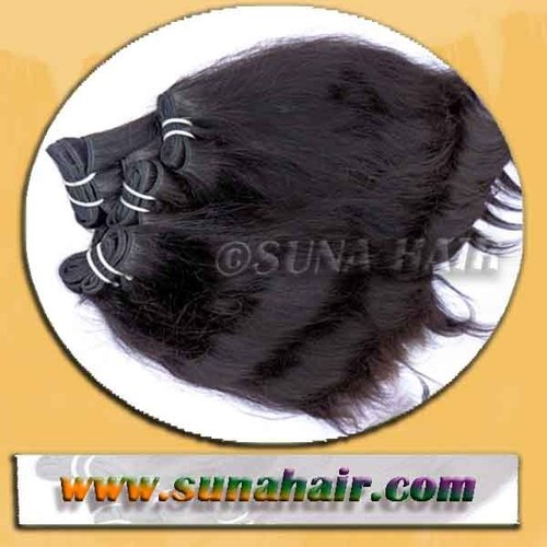 NATURAL DEEP BLACK BODY WAVY INDIAN HAIR BULK HUMAN HAIR