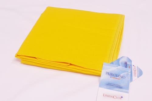100% Linen Brimstone Yellow Shirting Fabric