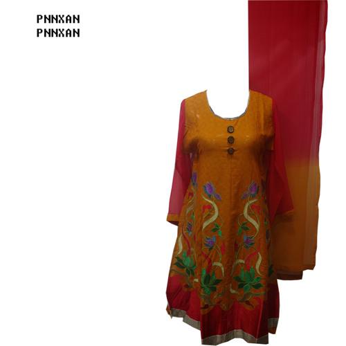 Brown Red Salwar Kameez