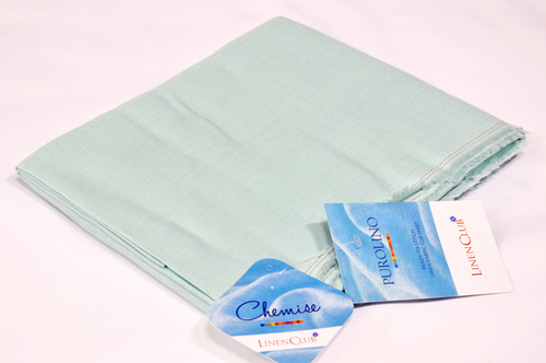 100% Linen Powder Blue Shirting Fabric
