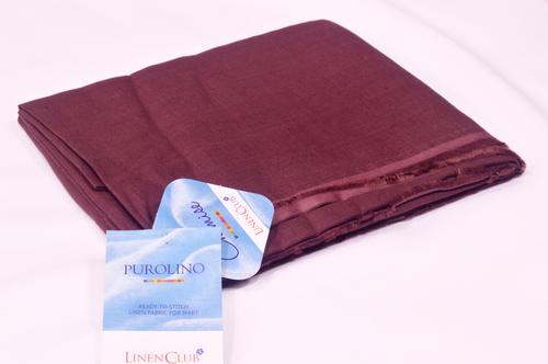 100% Linen Byzantium Violet Shirting Fabric