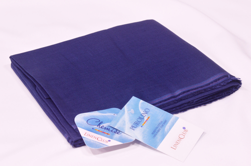 100% Linen Persian Indigo Shirting Fabric
