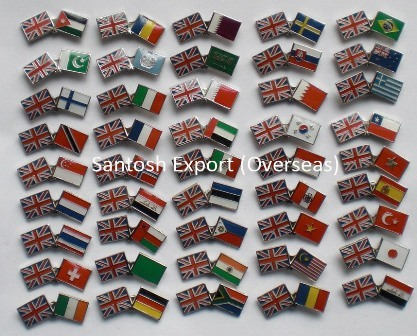COUNTRY FLAG LAPEL PINS