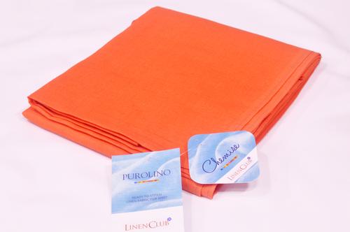 100% Linen Pumpkin Orange Shirting Fabric