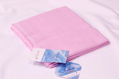 100% Linen Light Pink Shirting Fabric