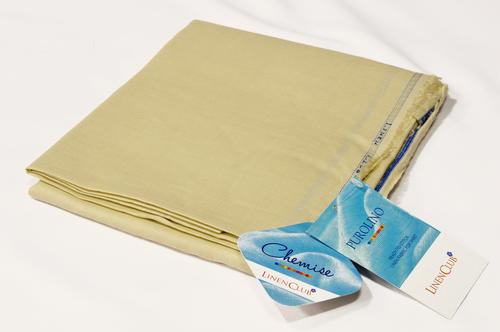 100% Linen Buff Brown Shirting Fabric