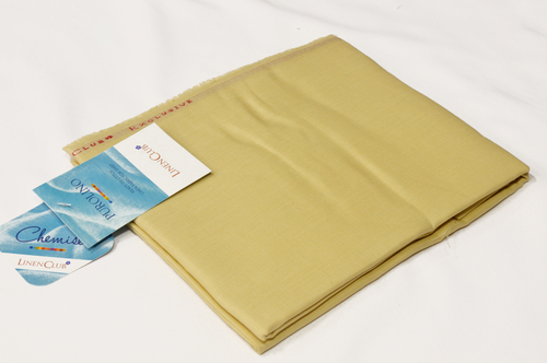 100% Linen Straw Yellow Shirting Fabric