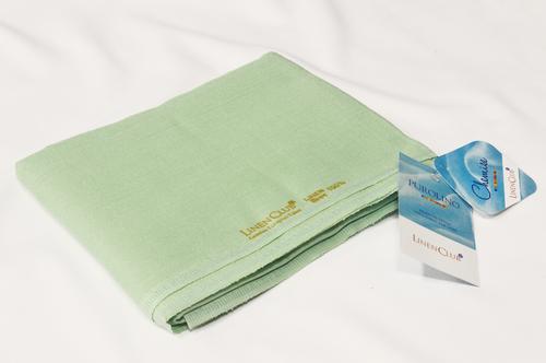 100% Linen Moss Green Shirting Fabric