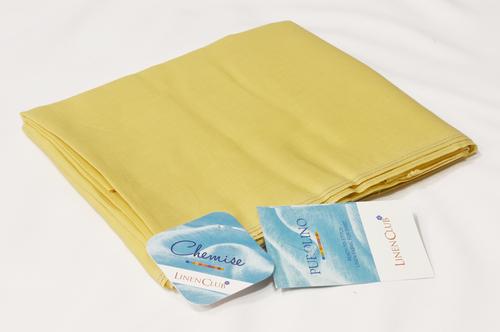 100% Linen Yellow Shirting Fabric
