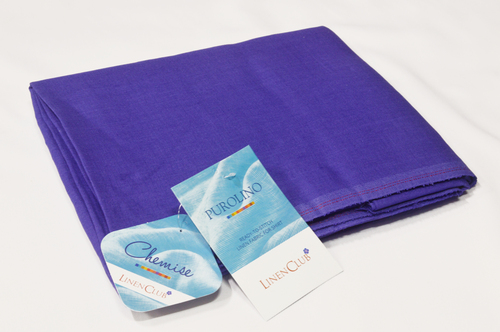 100% Linen Pacific Blue Shirting Fabric