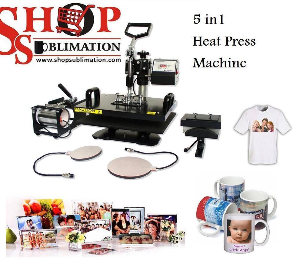 Heat Press Machine 5 in 1