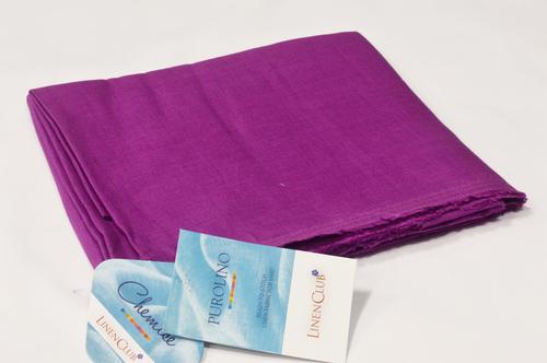 100% Linen Purple Shirting Fabric