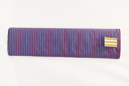 100% Cotton Blue Purple Stripe Shirting Fabric