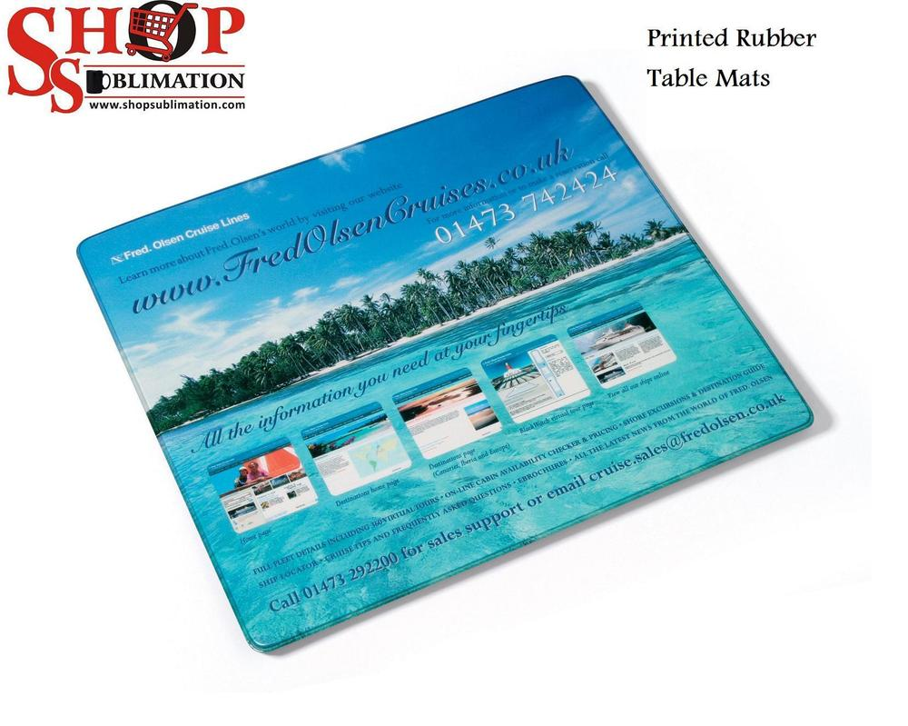 Printed Rubber Table Mats