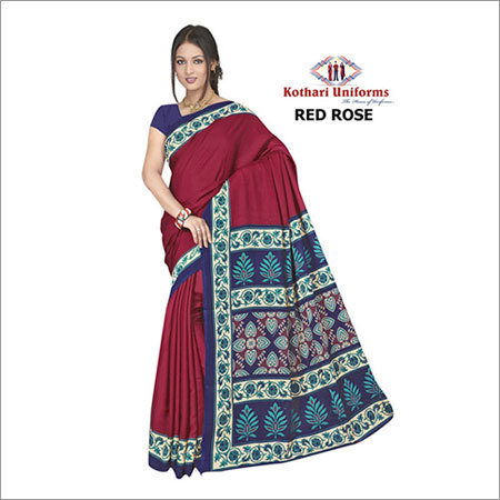 Plain with Border Uniform Sarees