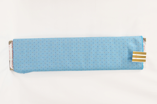 100% Cotton Blue Dot Design Shirting Fabric