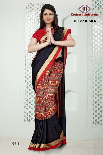 Design Printed Uniform Sarees