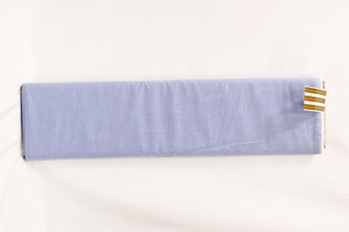 100% Cotton Periwinkle Blue Shirting Fabric