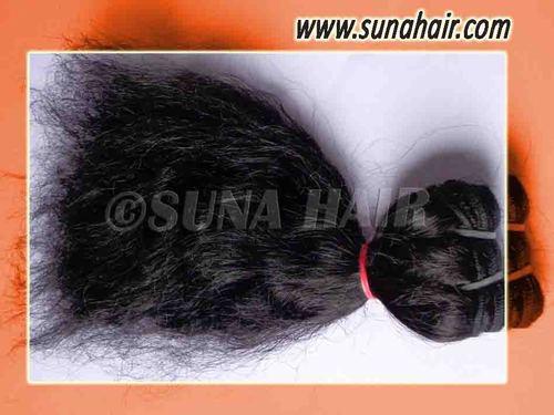 Brazilian romantic machine weft black curly remy hair ex