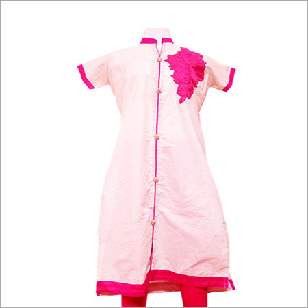 Cotton Kora Embroidery Kurti