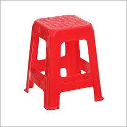 Red Plastic Stool