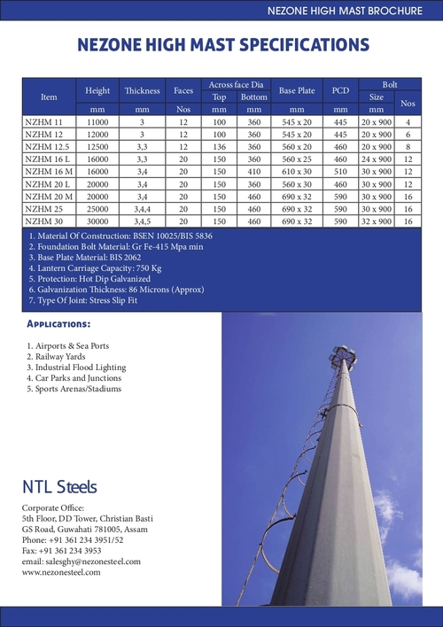 High Mast Specification
