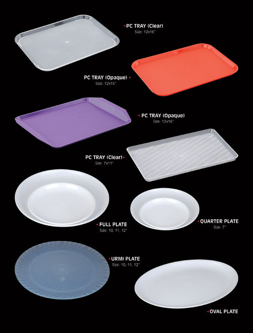 Poly Carbonate Serving Tray & Plates