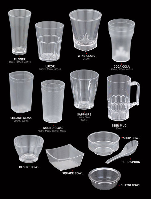 Poly  Carbonate  Glasses & Bowels