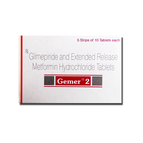 Gemer 2mg Glimepiride Tablets